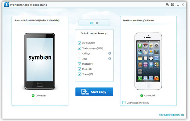 Copy Data from Symbian to iPhone